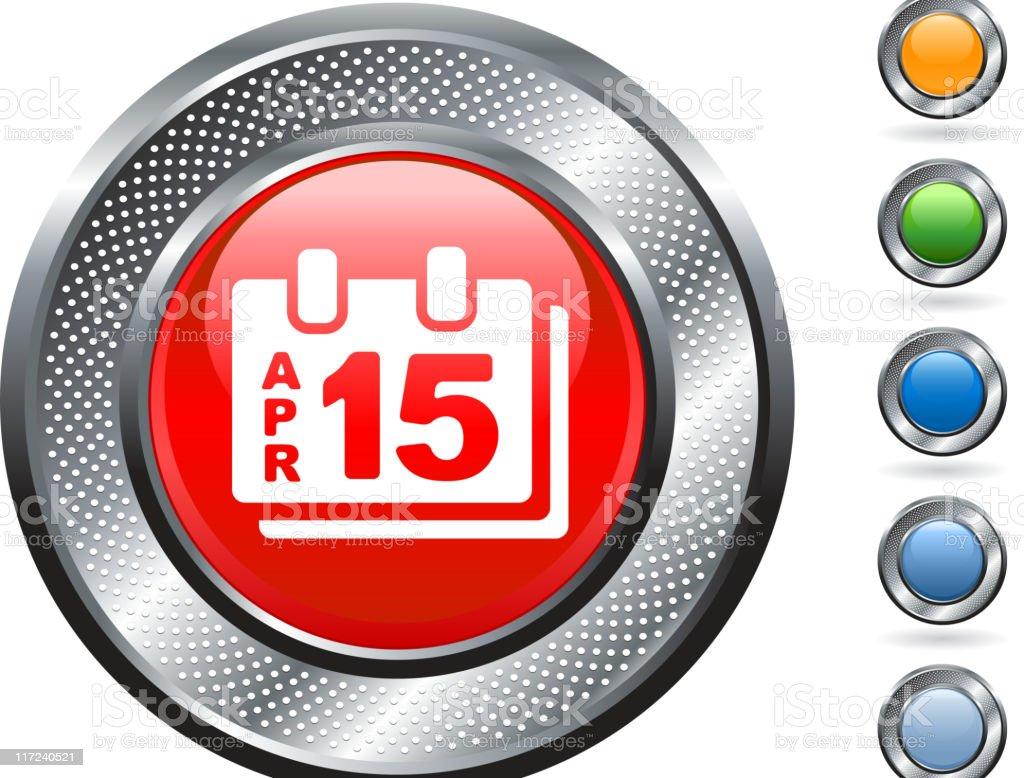 tax day royalty free vector art on metallic button royalty-free stock vector art