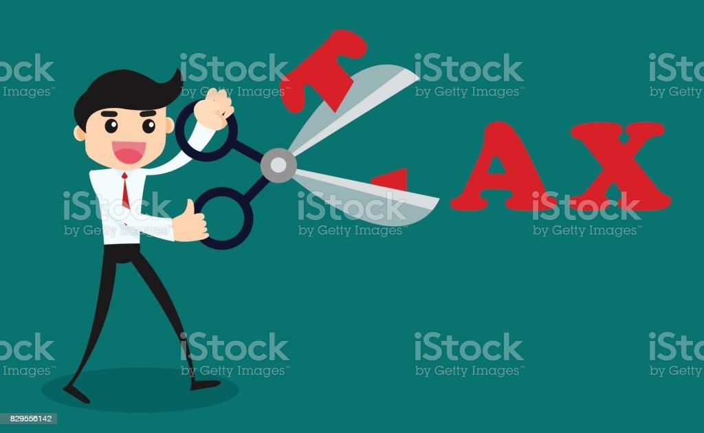 Tax Deduction. Business Concept. Vector Cartoon Illustration. vector art illustration
