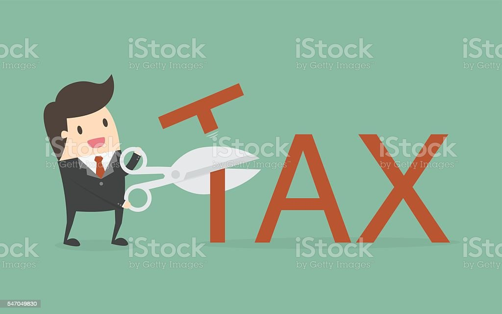 Tax Deduction vector art illustration