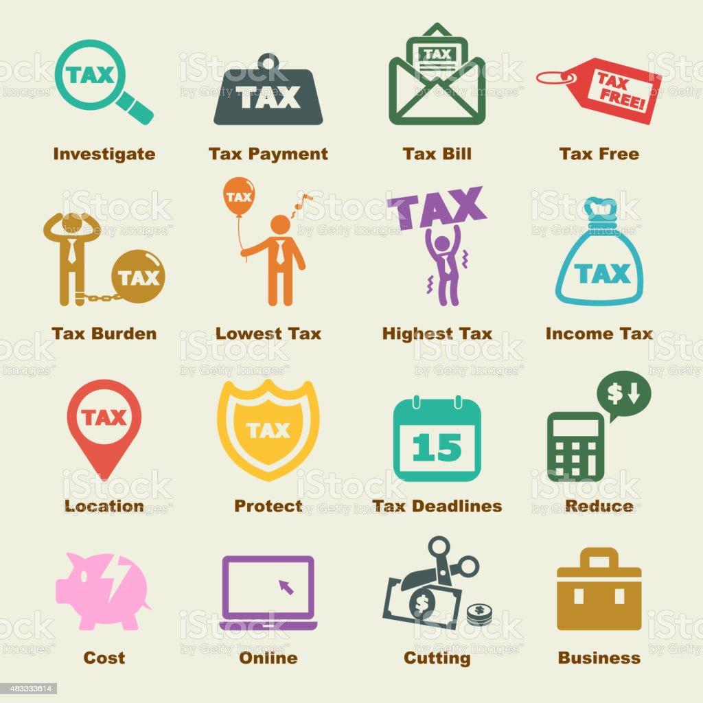 tax elements vector art illustration