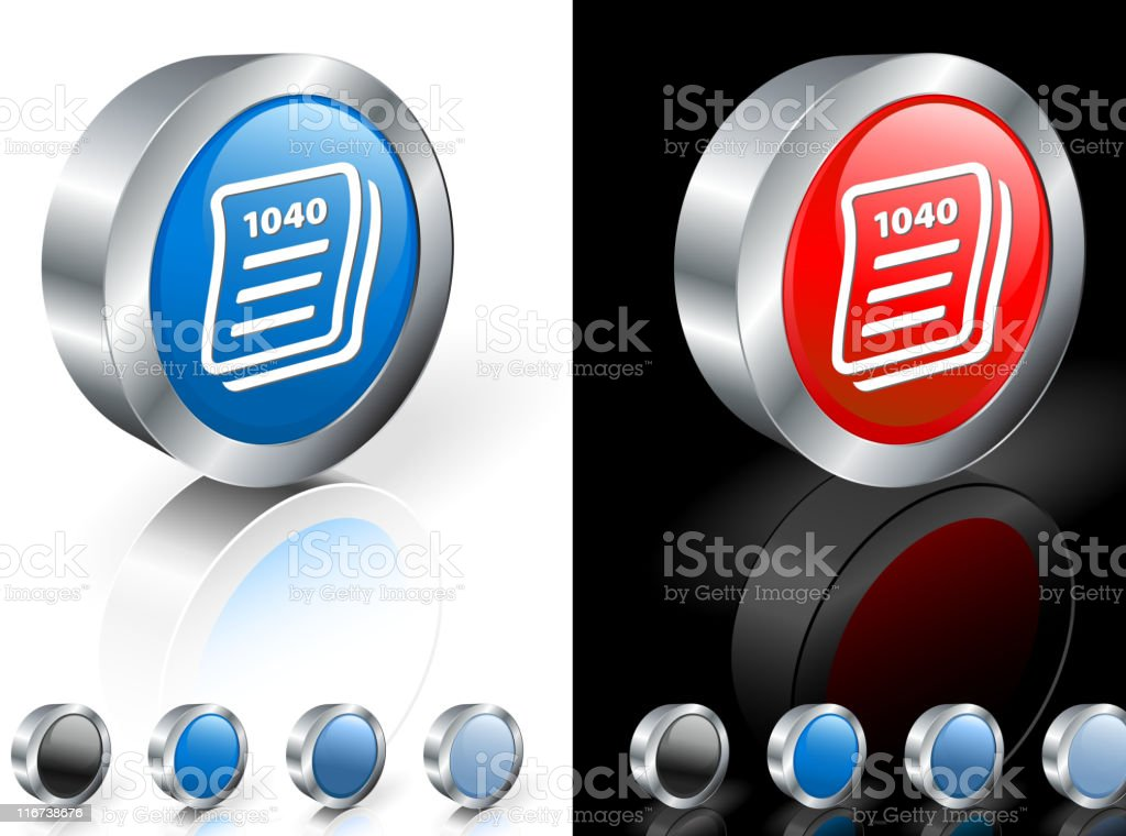 tax form 3D royalty free vector art royalty-free stock vector art
