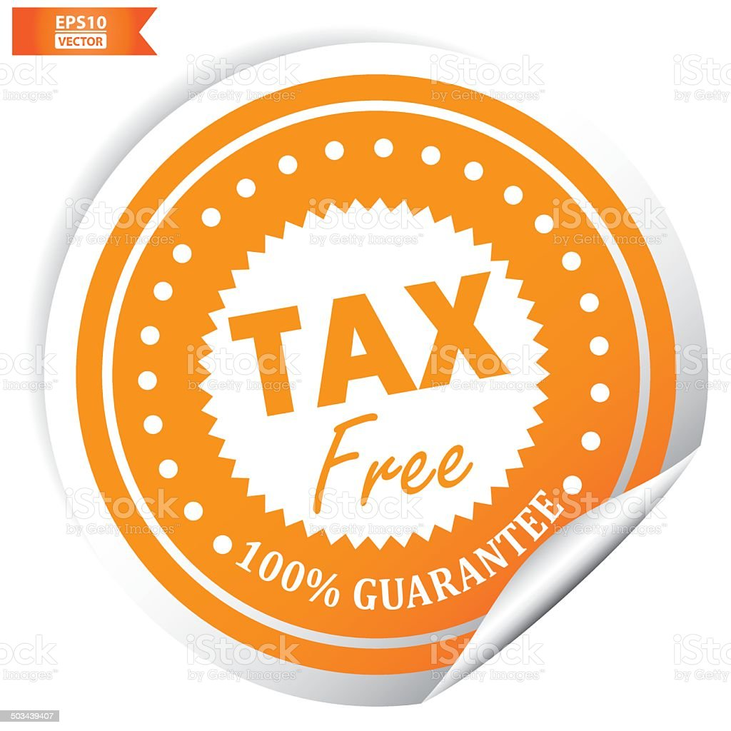 Tax free sticker. Eps10 Vector royalty-free stock vector art