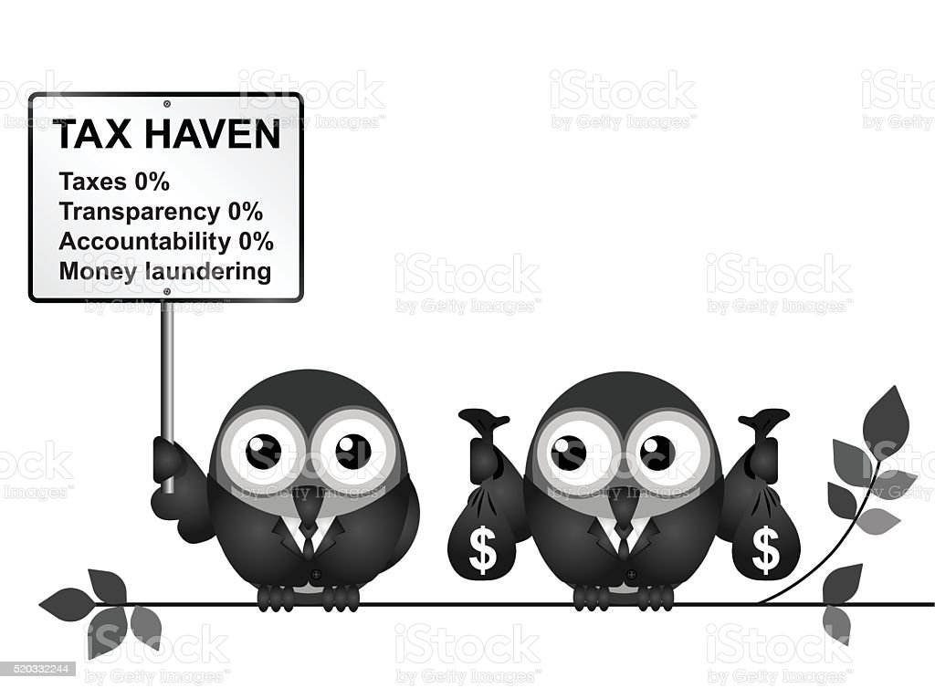 Tax Haven vector art illustration