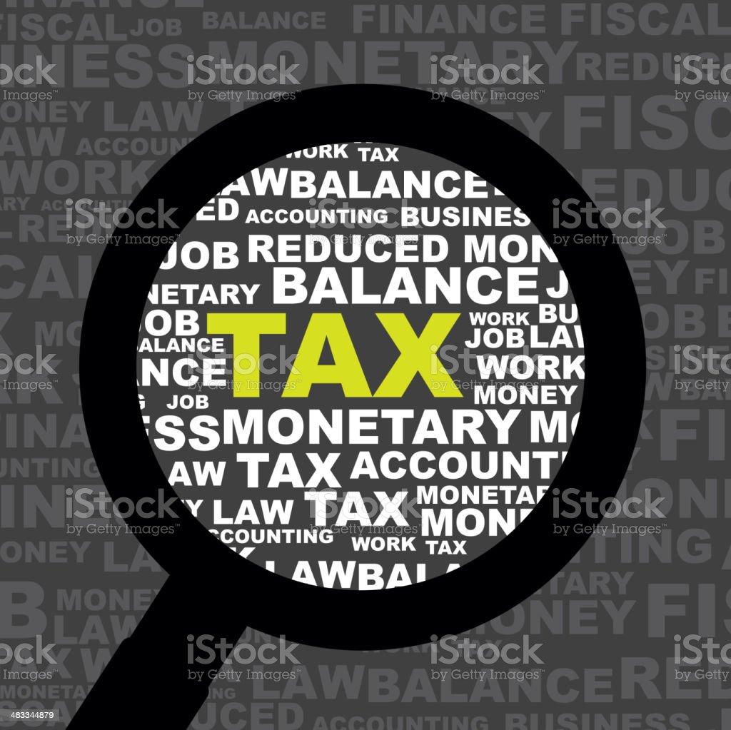 tax icon vector art illustration