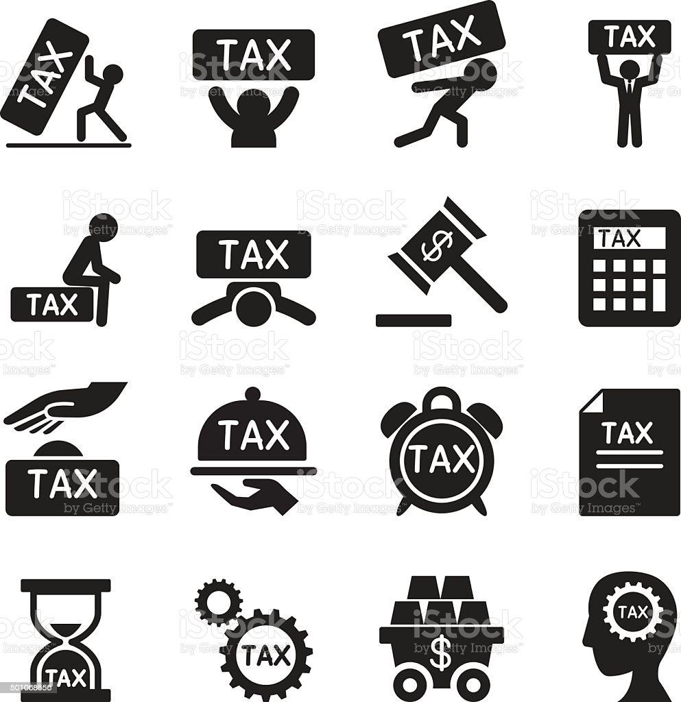 Tax icons set Vector illustration vector art illustration