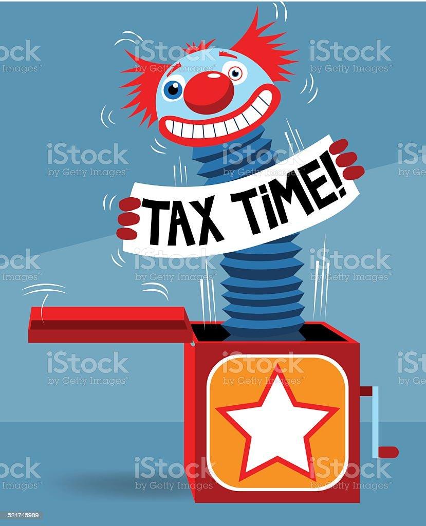Tax Jack in the Box vector art illustration