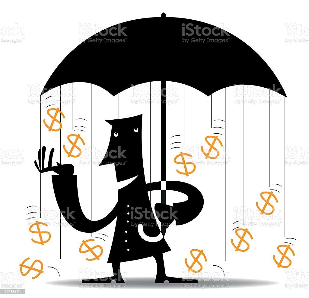 Tax Shelter vector art illustration