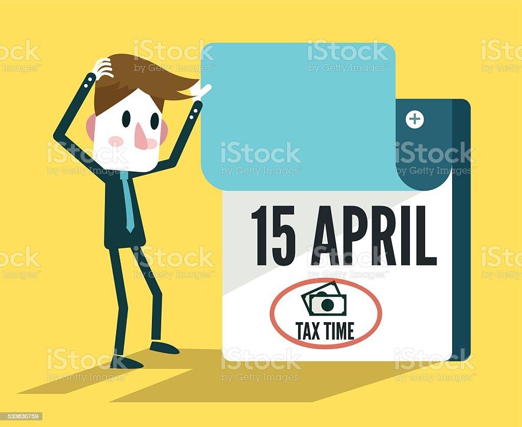 Tax Time Calendar. vector art illustration