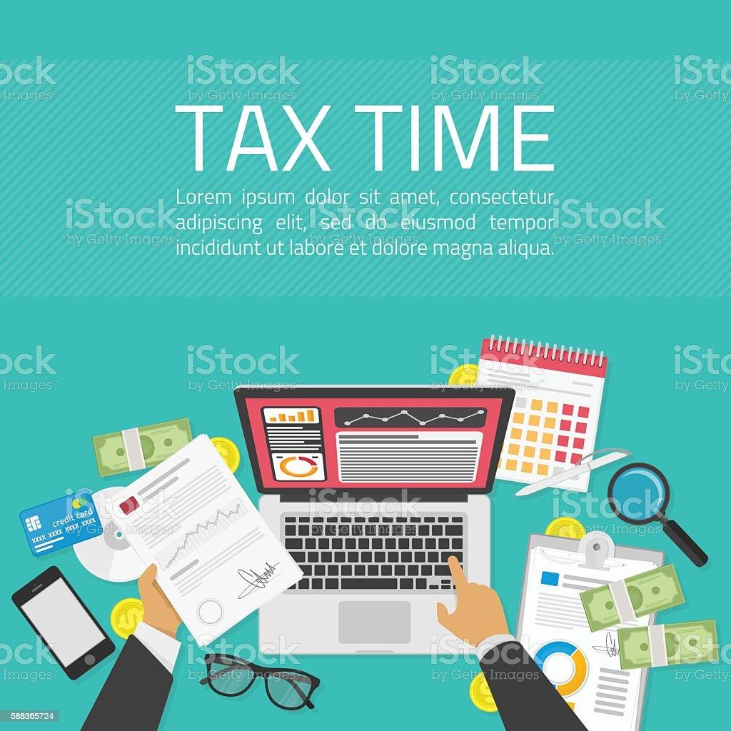 Tax time illustration vector art illustration