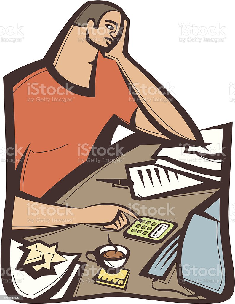 Tax time royalty-free stock vector art