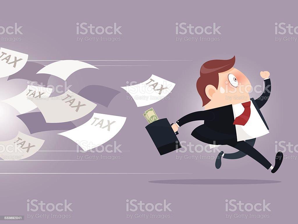 Tax vector art illustration