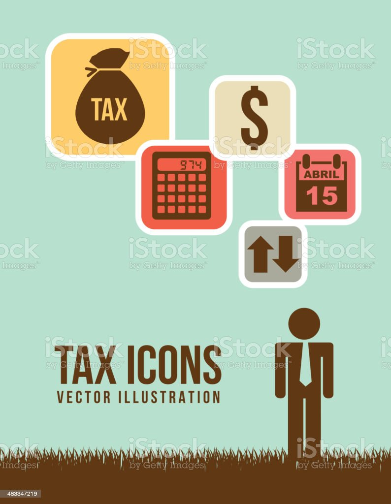 tax vector vector art illustration