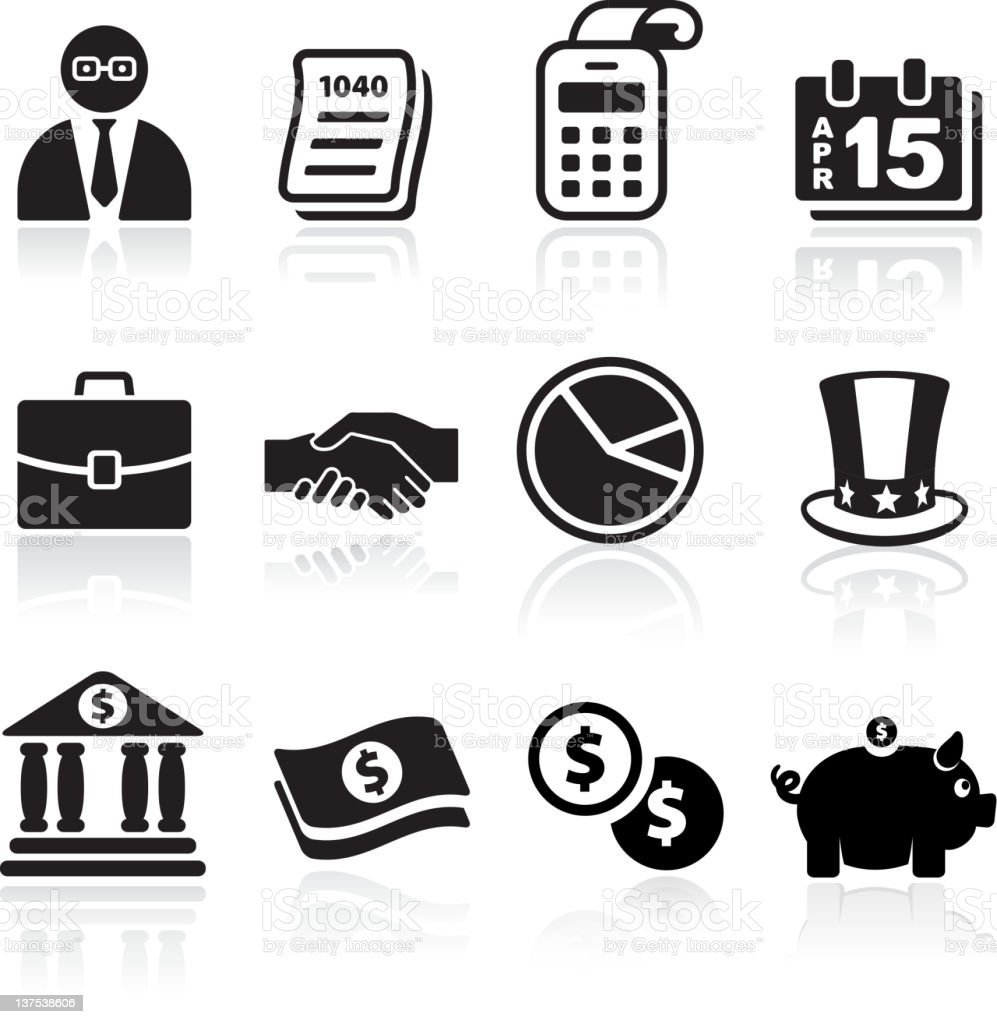 taxes and accounting royalty free vector arts vector art illustration
