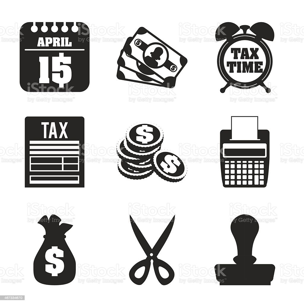 Taxes design, vector illustration. vector art illustration