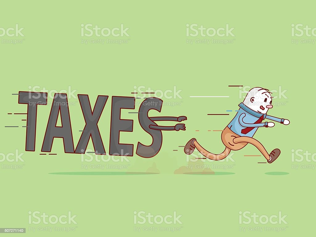 Taxes haunt you vector art illustration