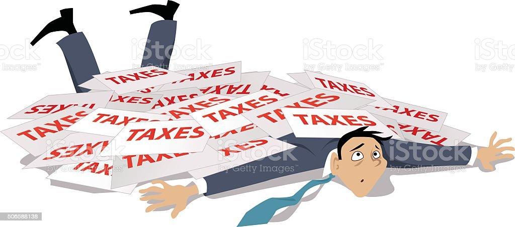 Taxes problem vector art illustration