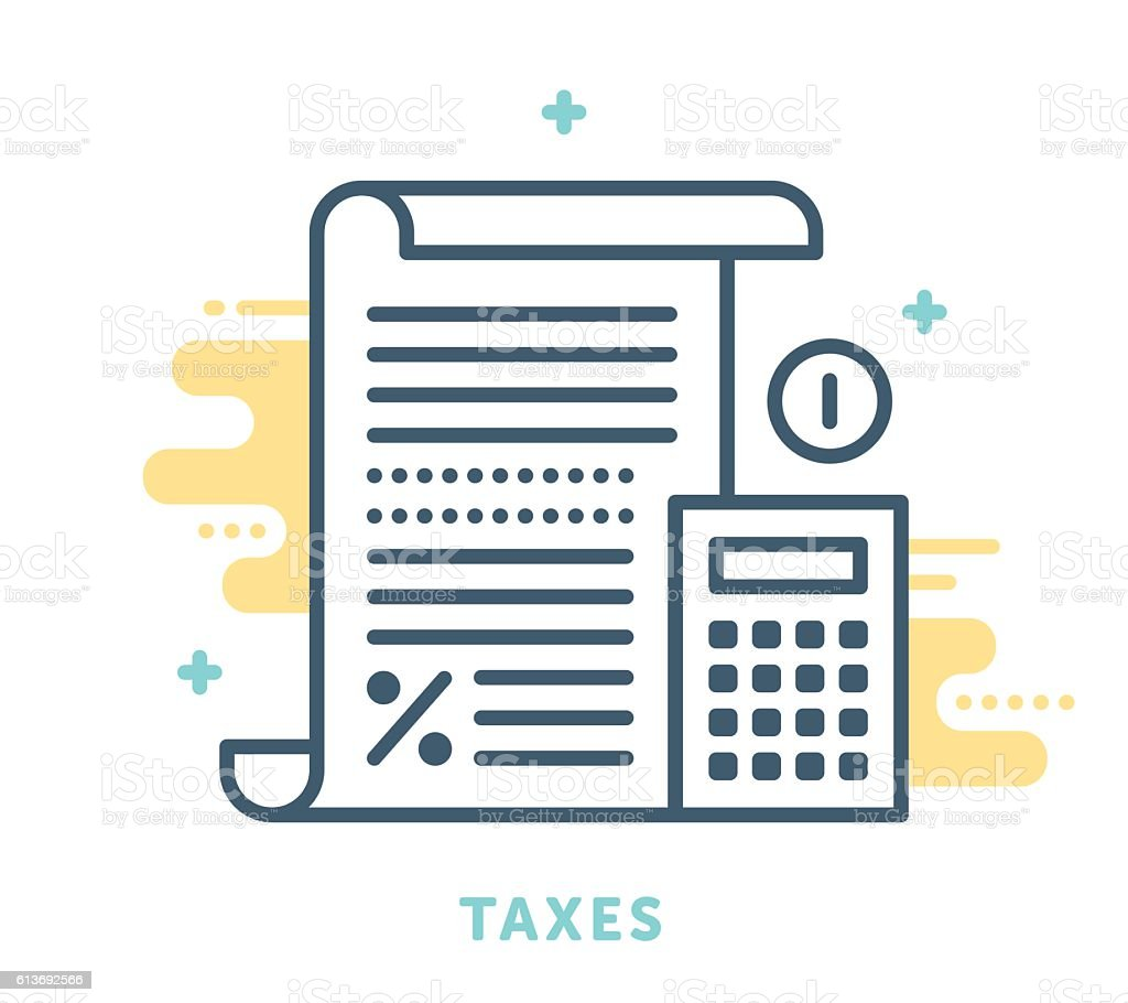 Taxes Symbol vector art illustration