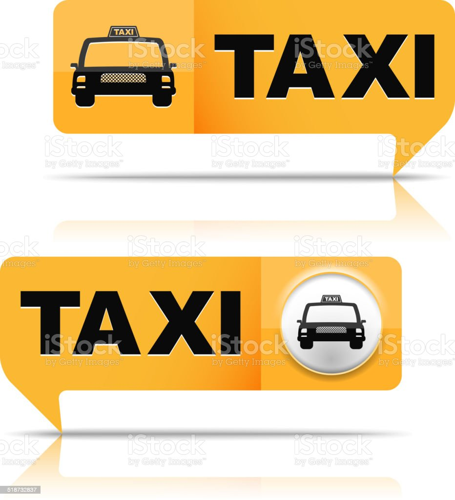 Taxi Banners vector art illustration