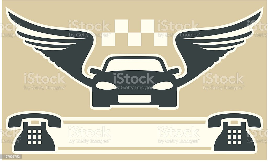 Taxi business card royalty-free stock vector art