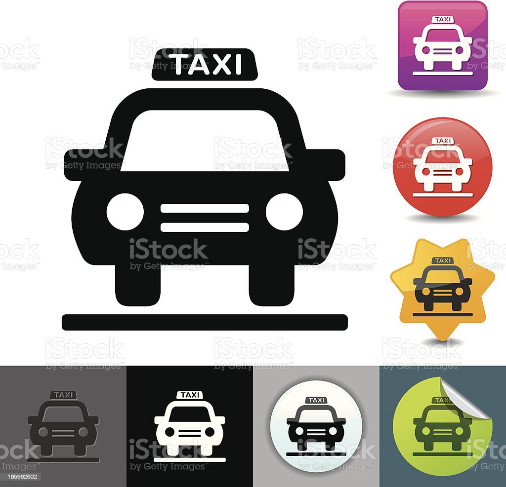 Taxi icon | solicosi series vector art illustration