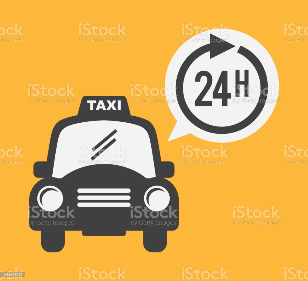 taxi service vector art illustration