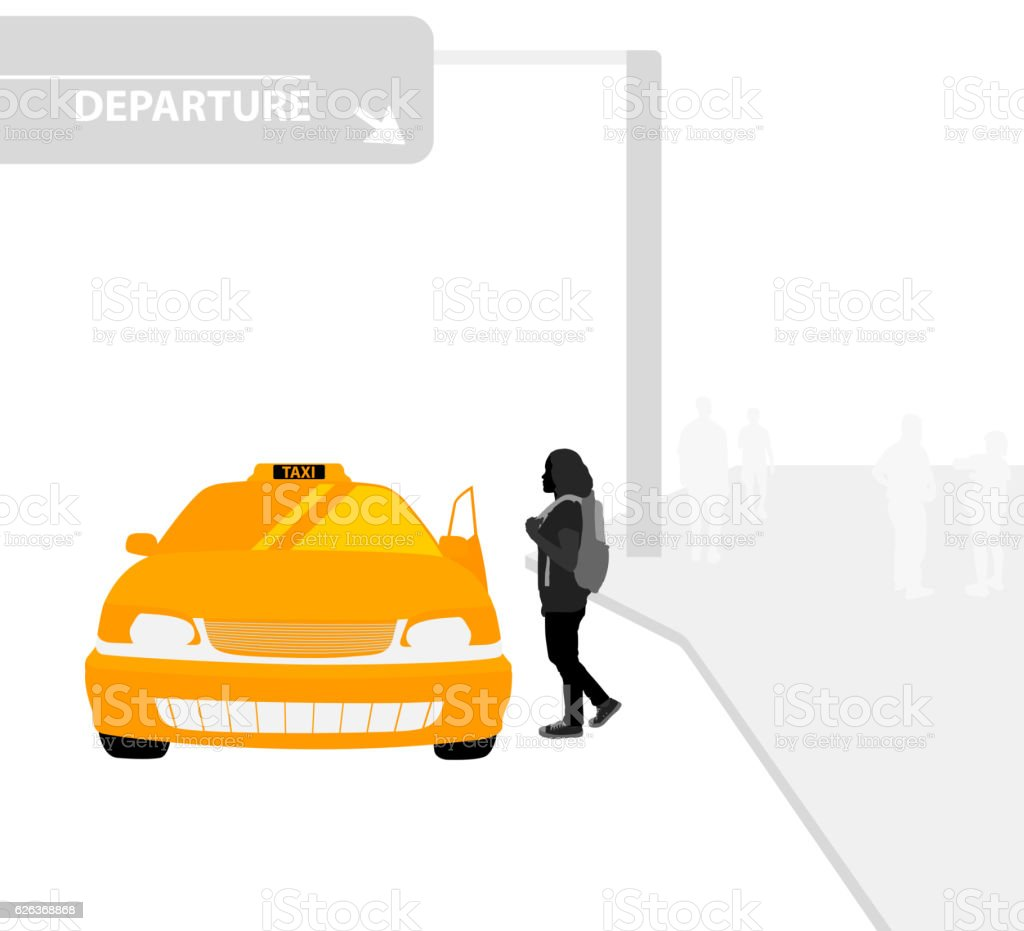 Taxi service vector art illustration