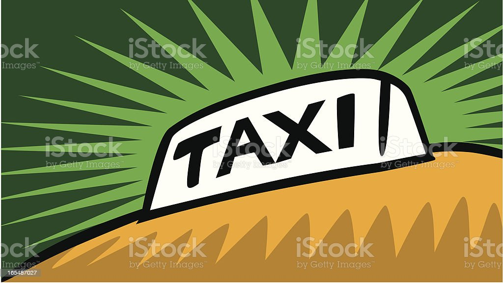 Taxi Sign royalty-free stock vector art