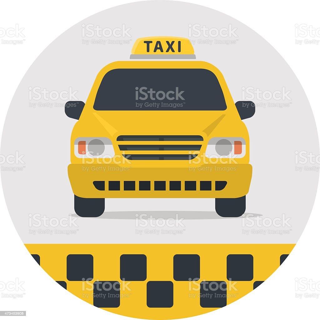 Taxi sign vector illustration. vector art illustration