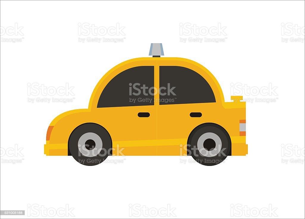 taxi simple illustration vector art illustration