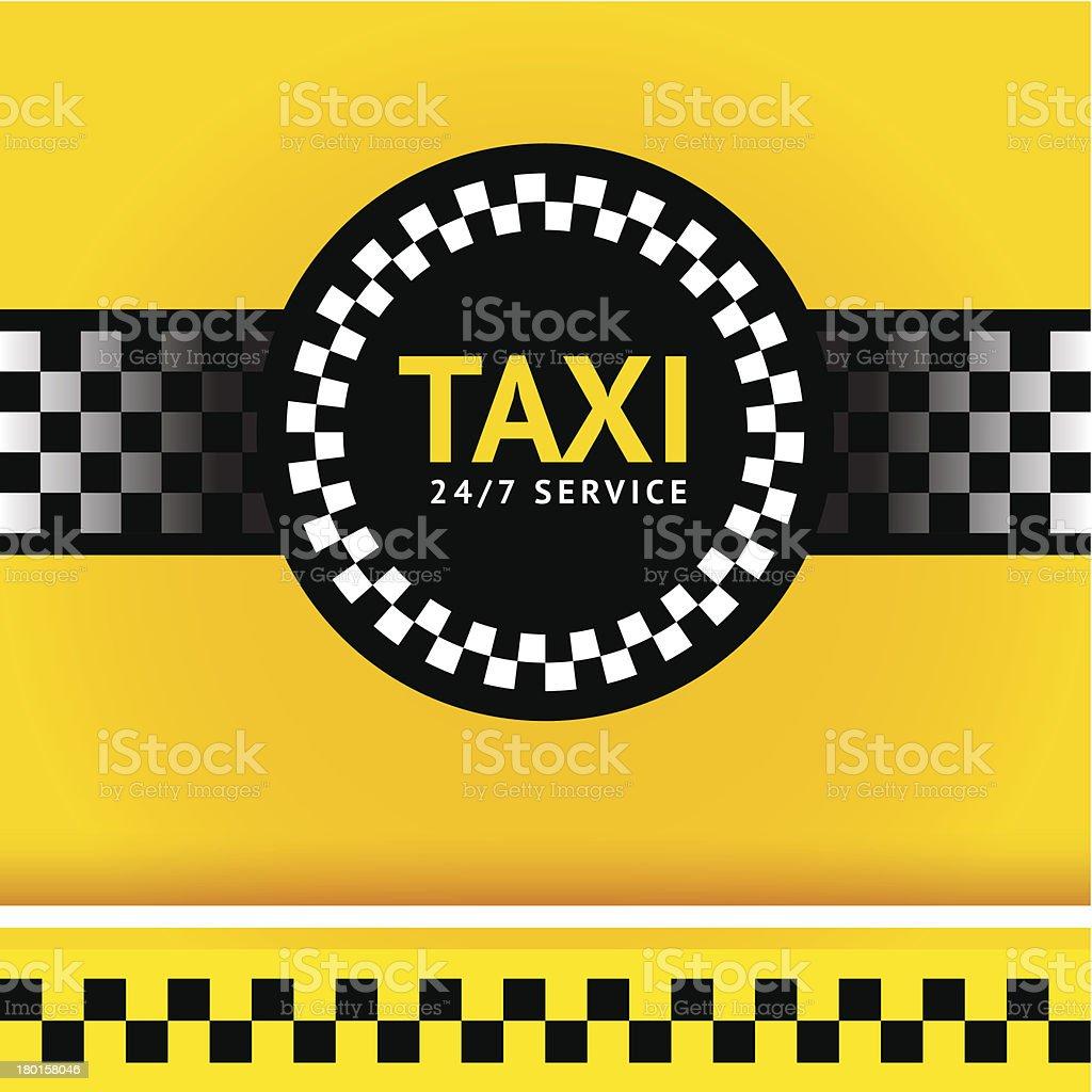 Taxi symbol, square vector art illustration
