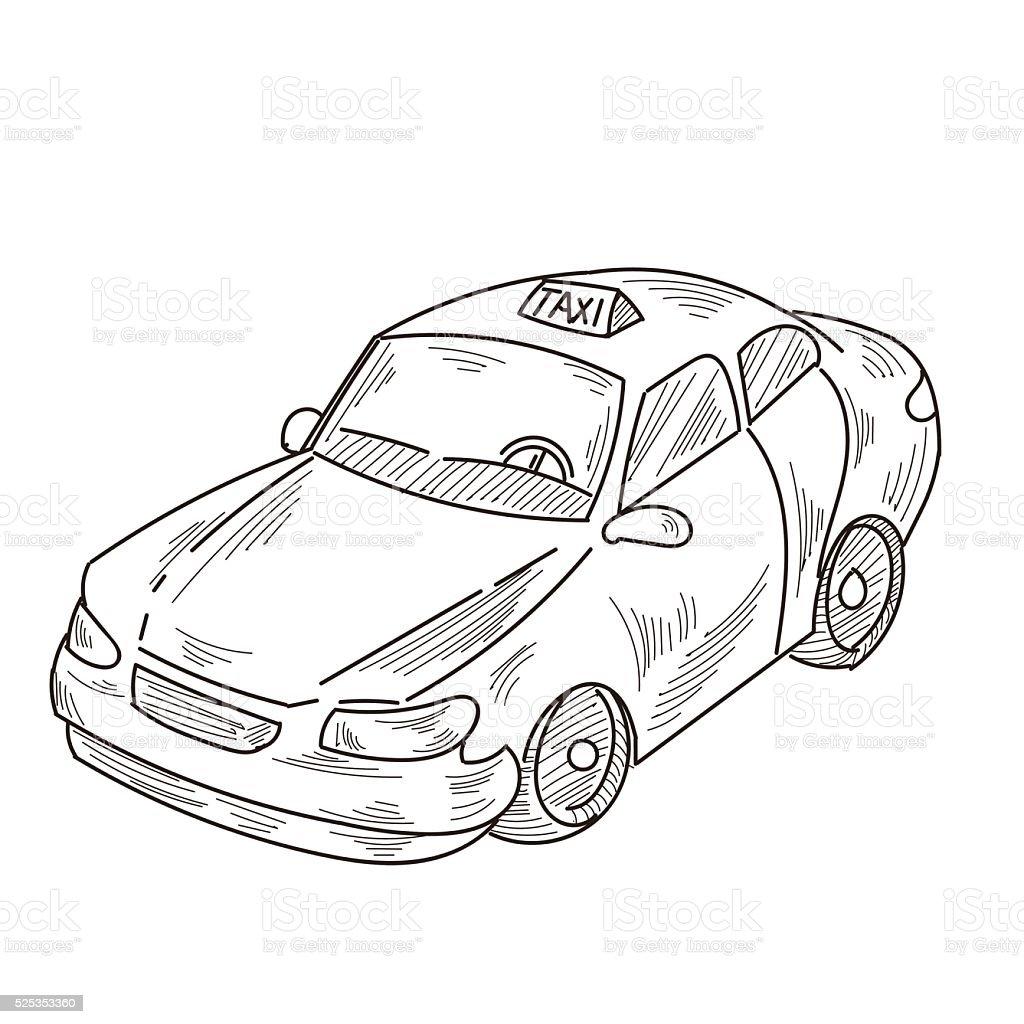 Taxi vector art illustration