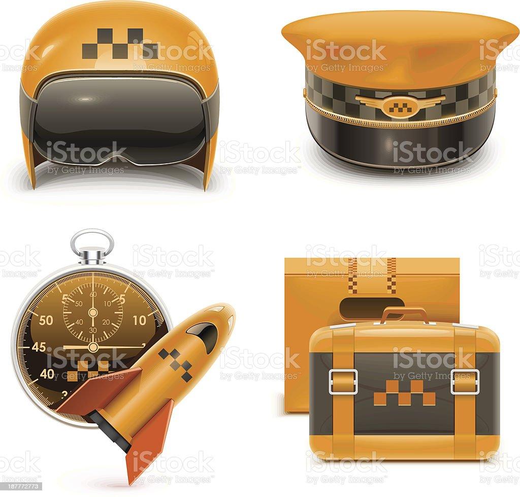taxi vector xxl icons royalty-free stock vector art