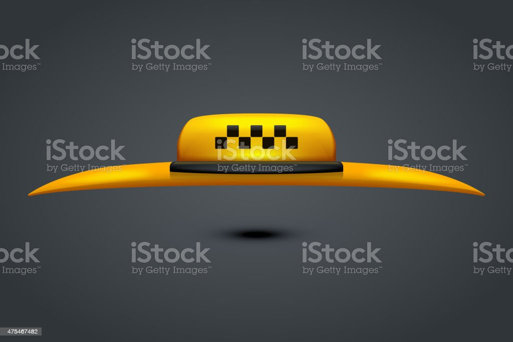 taxi with roof vector art illustration
