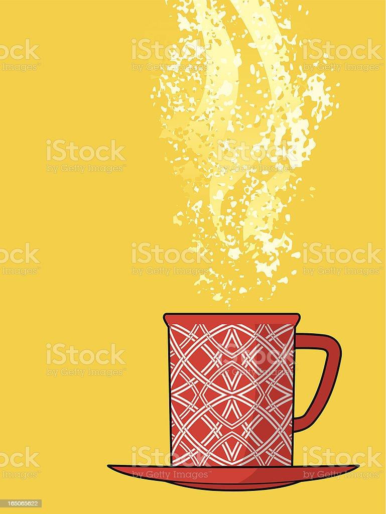 te rojo vector art illustration