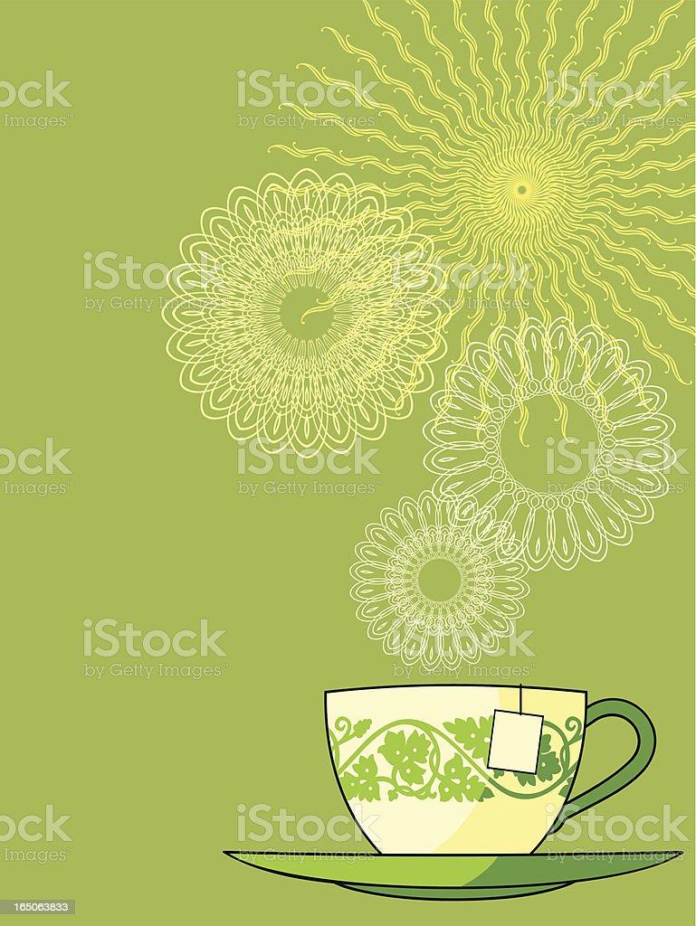te verde royalty-free stock vector art