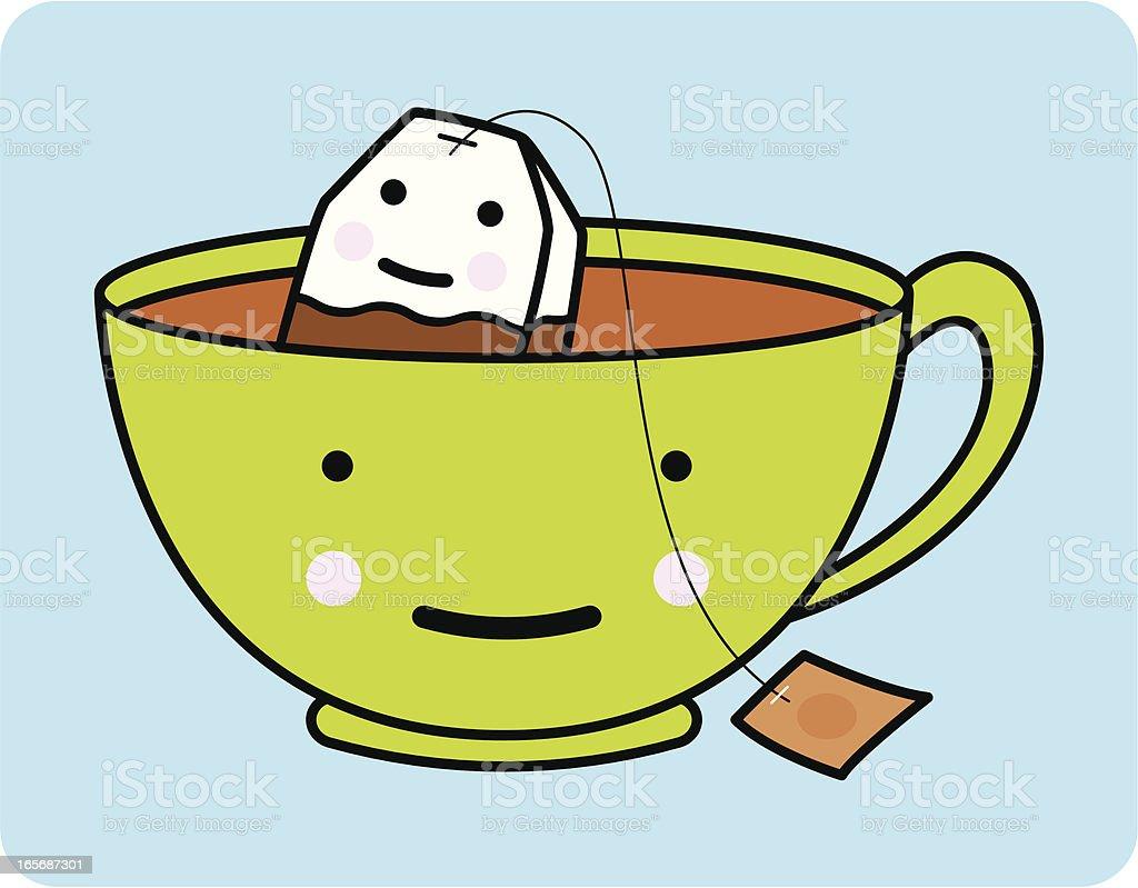 Tea Buddies royalty-free stock vector art