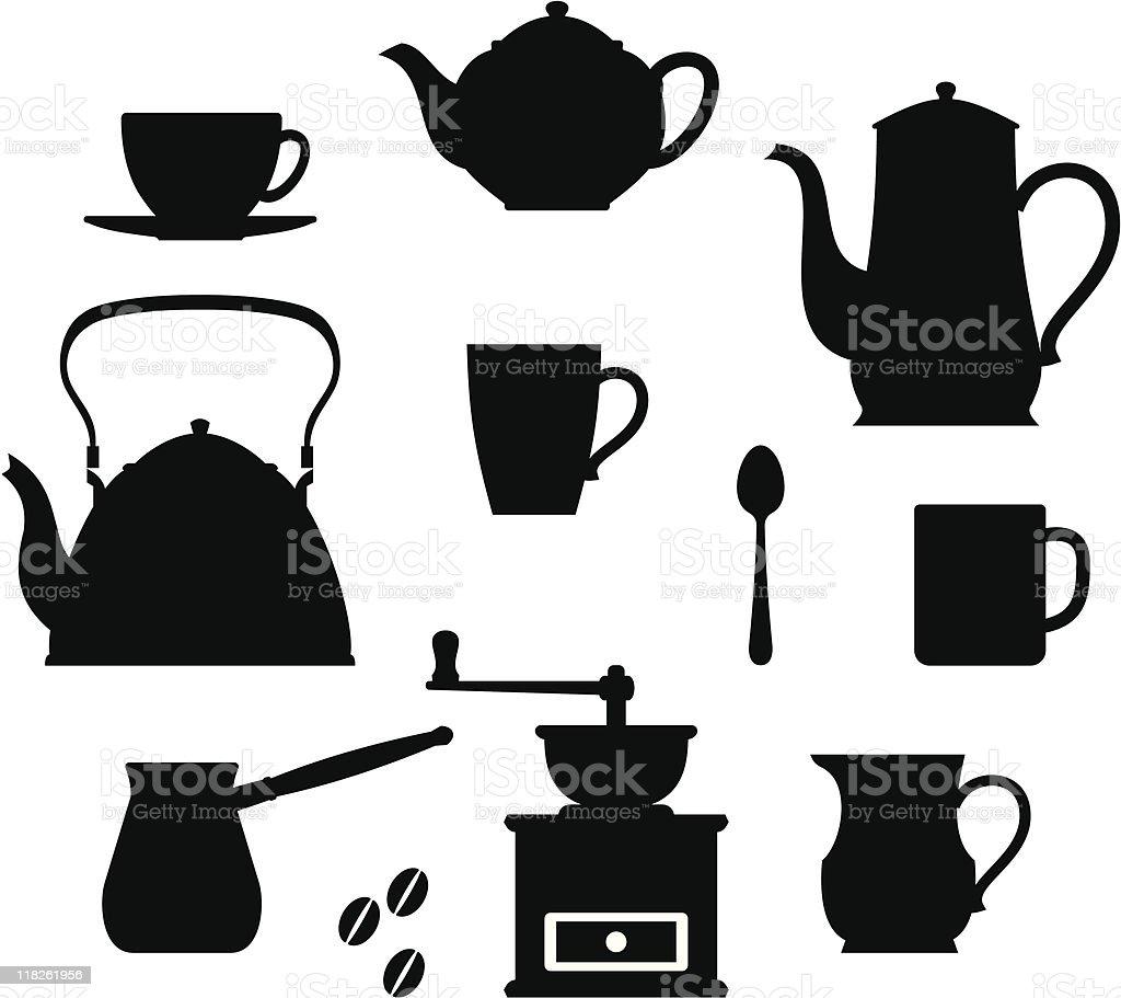 Tea  – Coffee time (Crockery) vector art illustration