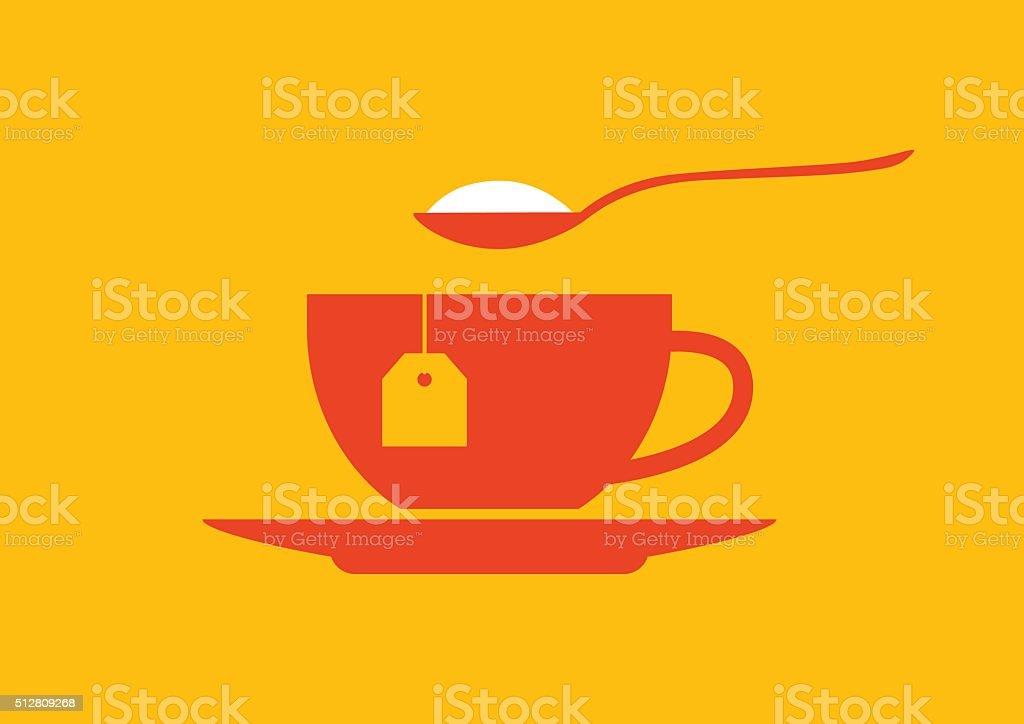 Tea cup icon vector art illustration
