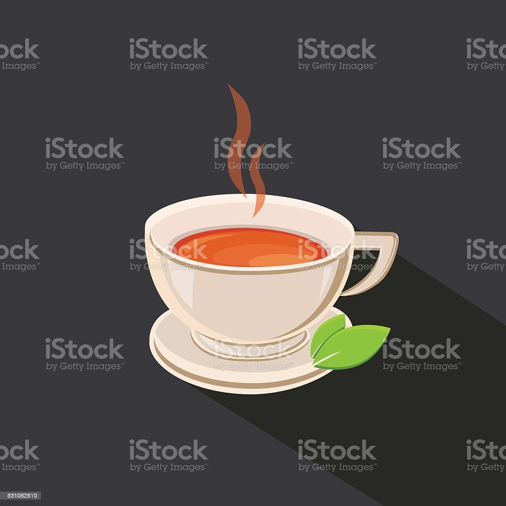 Tea cup vector illustration vector art illustration