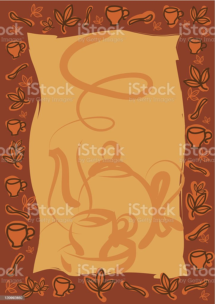 tea frame royalty-free stock vector art