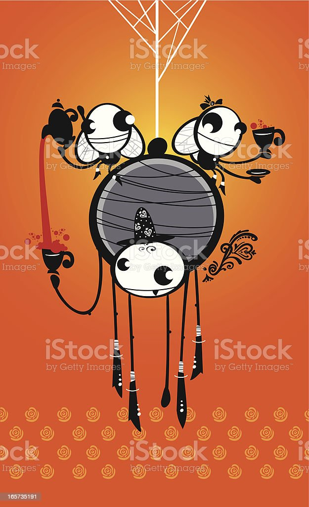 Tea hour royalty-free stock vector art