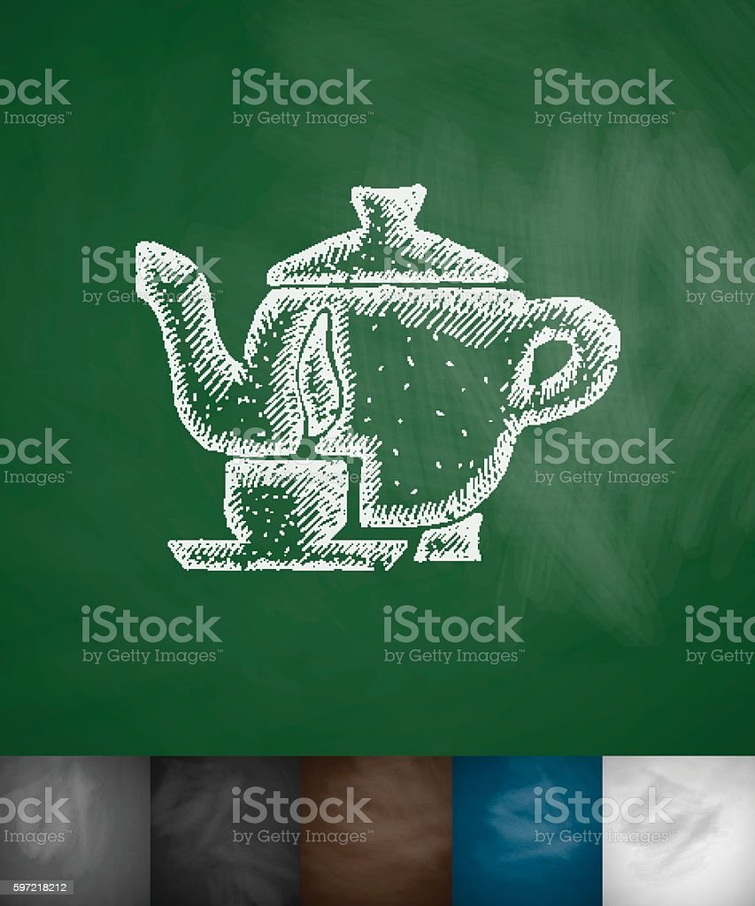 tea icon. Hand drawn vector illustration vector art illustration