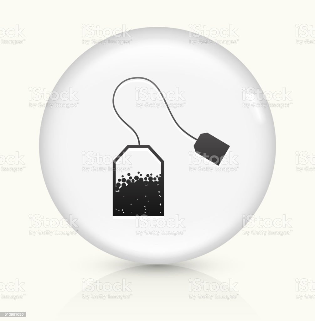 Tea icon on white round vector button vector art illustration