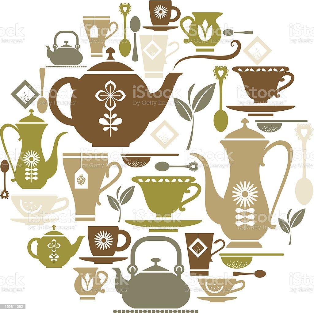 Tea Icon Set royalty-free stock vector art