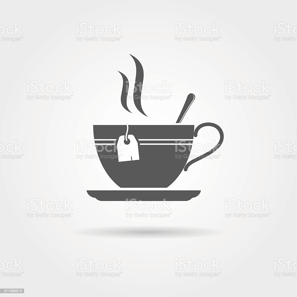 Tea icon vector art illustration