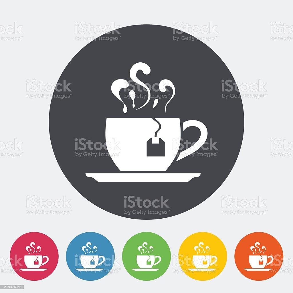 Tea icon vector art illustration