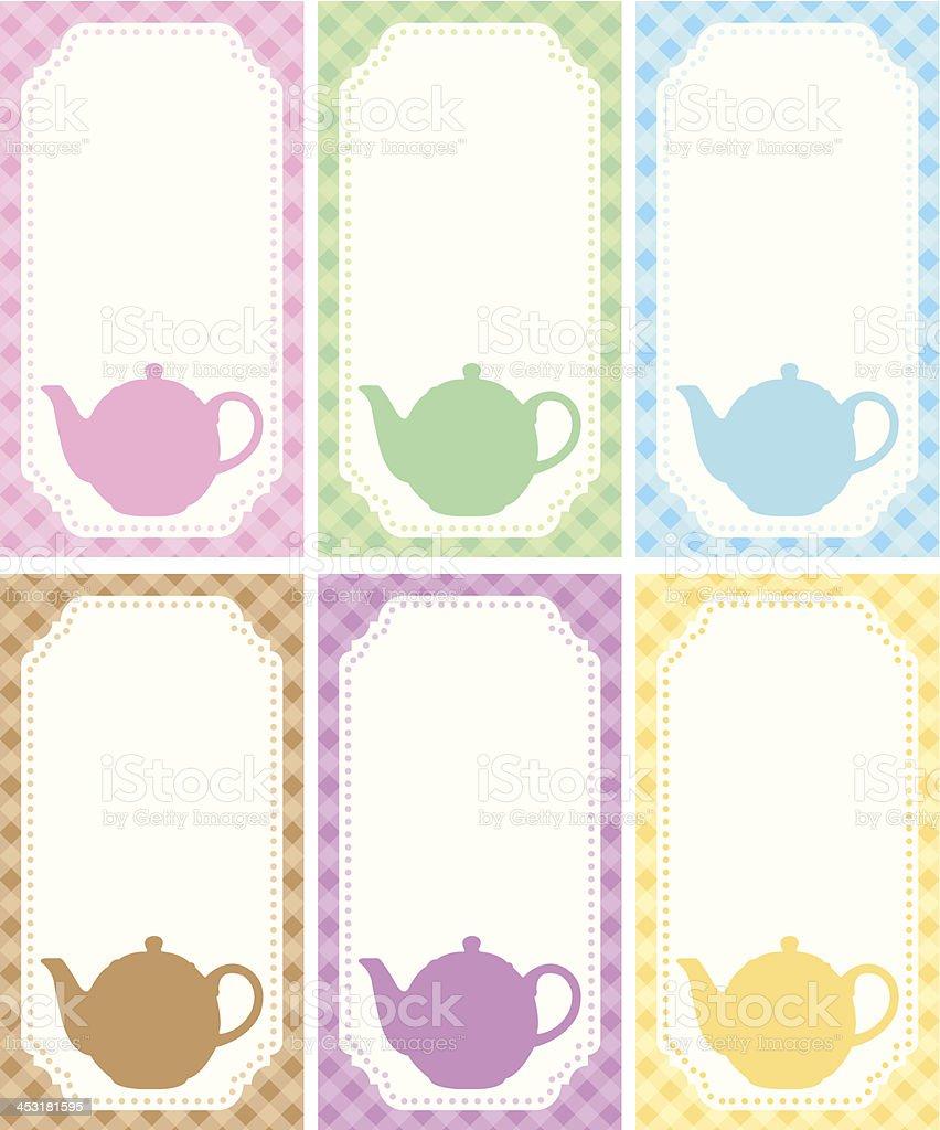 Tea label theme royalty-free stock vector art