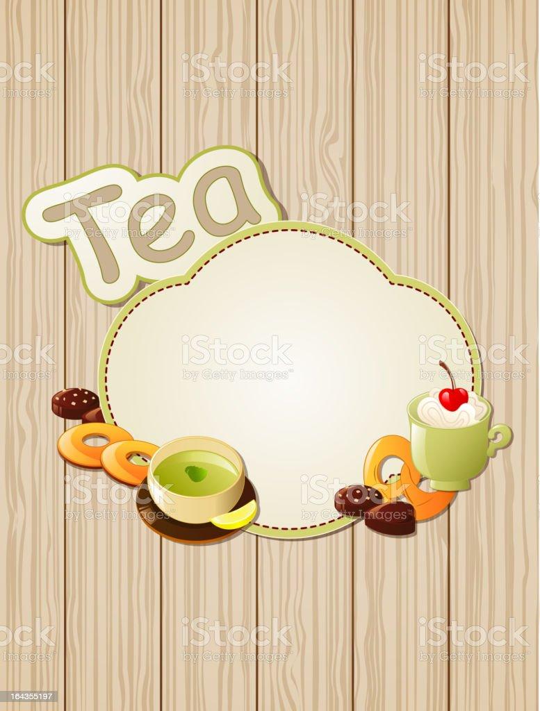 Tea label royalty-free stock vector art