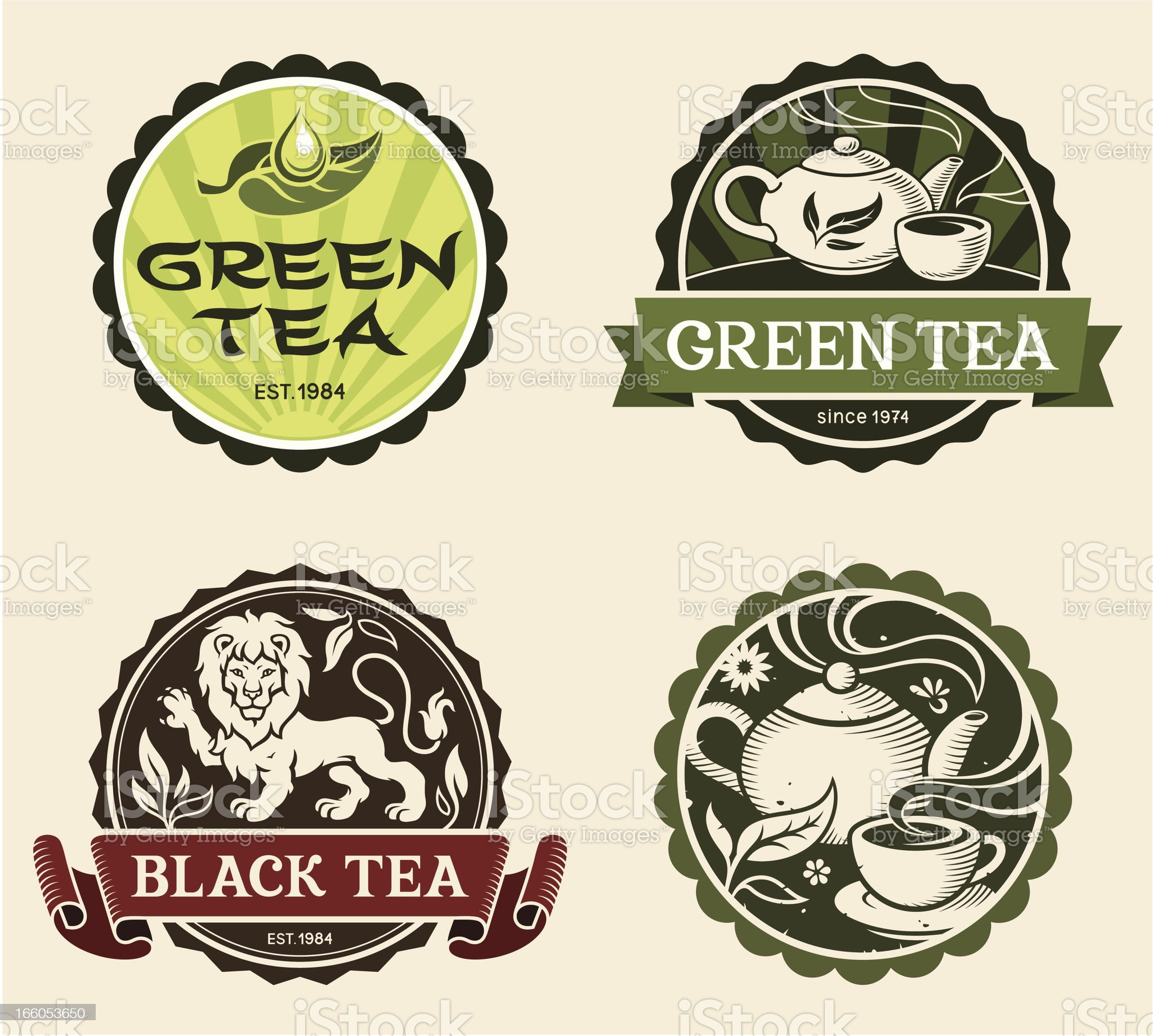 Tea labels royalty-free stock vector art