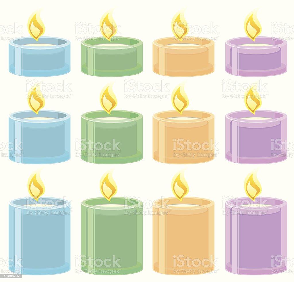 Tea lights royalty-free stock vector art